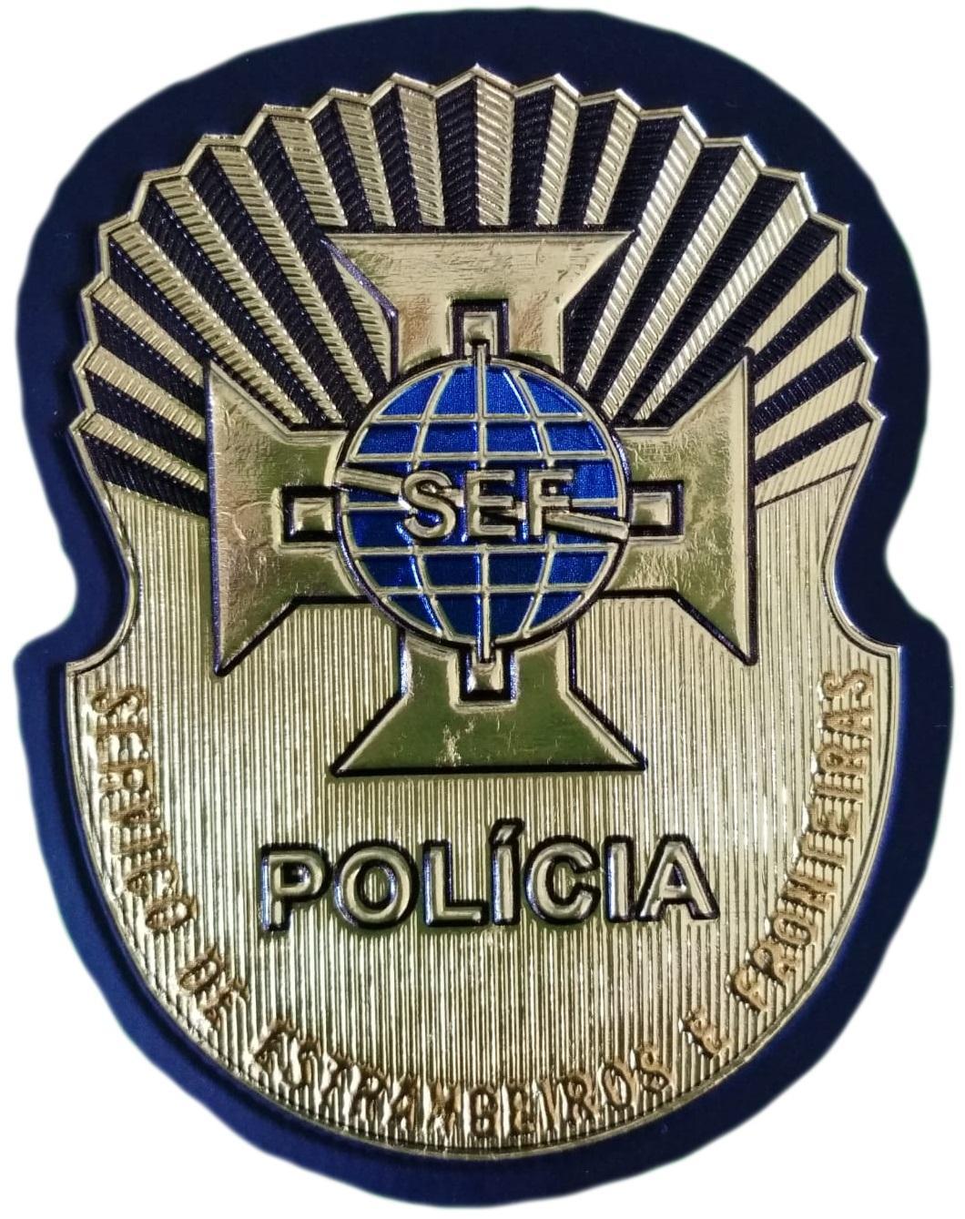 PARCHE POLICÍA DE PORTUGAL SERVICIO DE EXTRANJEROS Y FRONTERAS