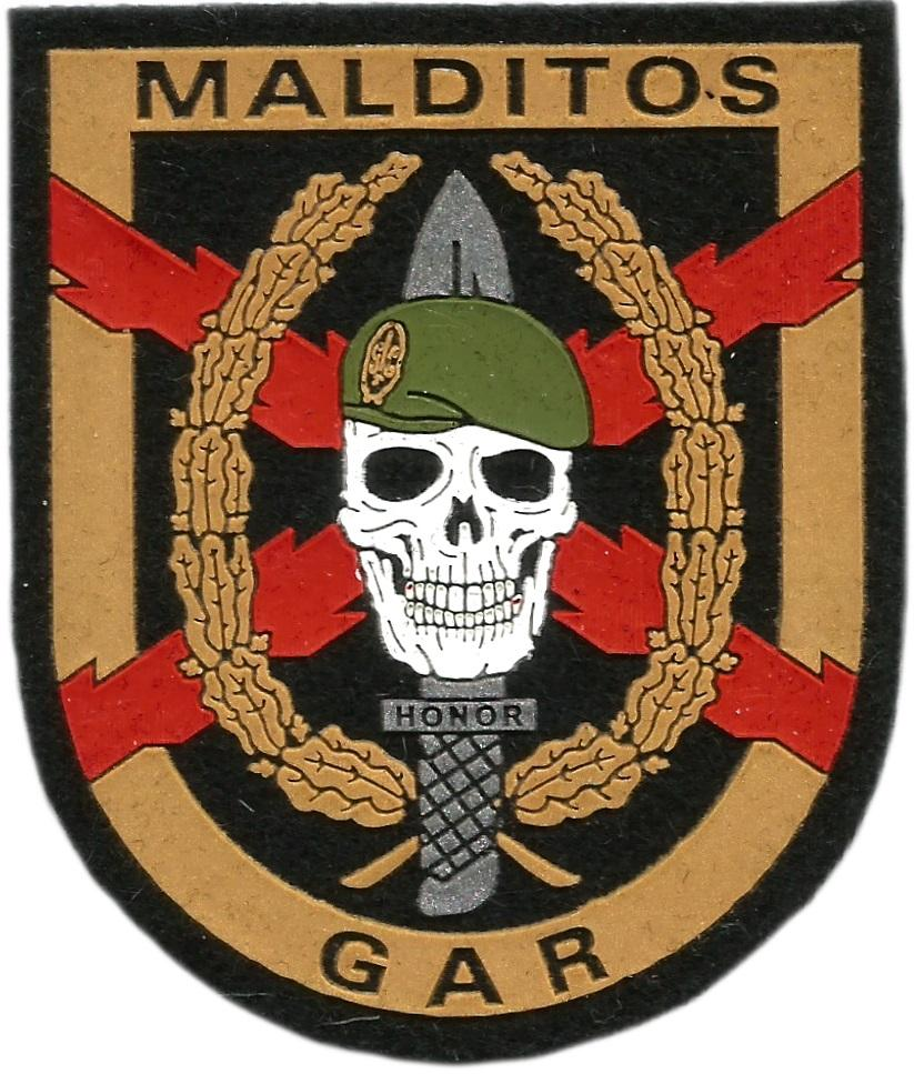 Guardia civil GAR Grupo acción rápida Antiterrorista Malditos parche insignia emblema distintivo