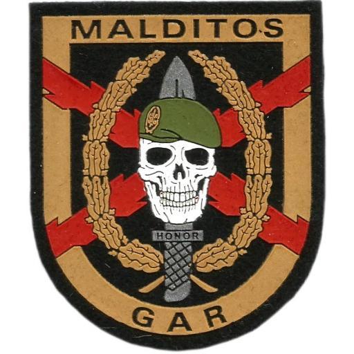 Guardia civil GAR Grupo acción rápida Antiterrorista Malditos parche insignia emblema distintivo [0]