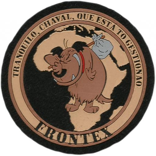 PARCHE POLICIA DE FRONTERAS DE EUROPA FRONTEX