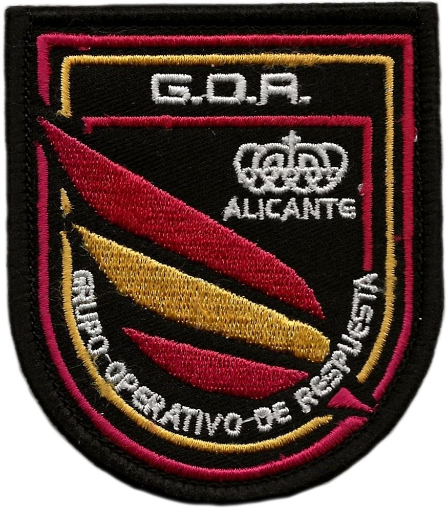 Policía Nacional CNP Grupo Operativo de Respuesta GOR Alicante parche insignia emblema distintivo