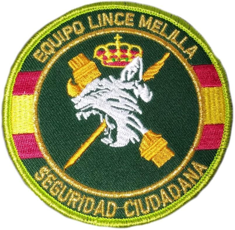 Guardia Civil Usecic Melilla equipo lince parche insignia emblema distintivo bordado