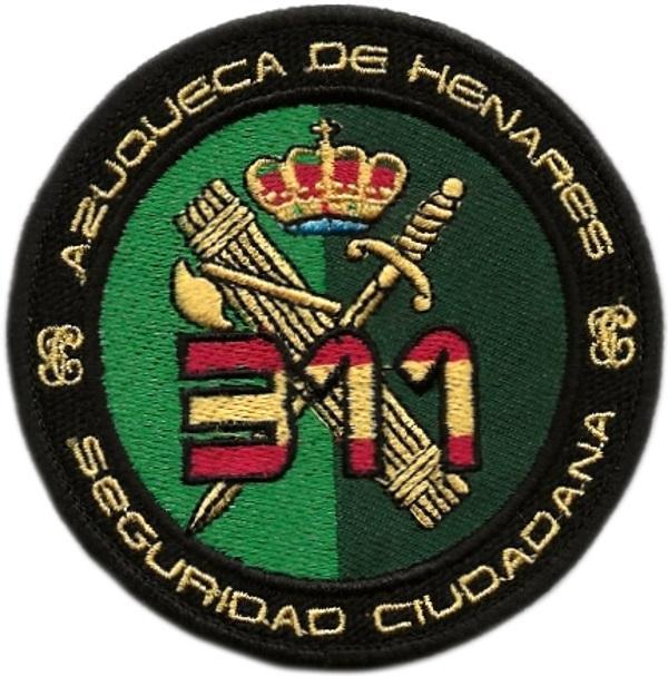 PARCHE GUARDIA CIVIL USECIC AZUQUECA DE HENARES 311 - INSIGNIA EMBLEMA BORDADO