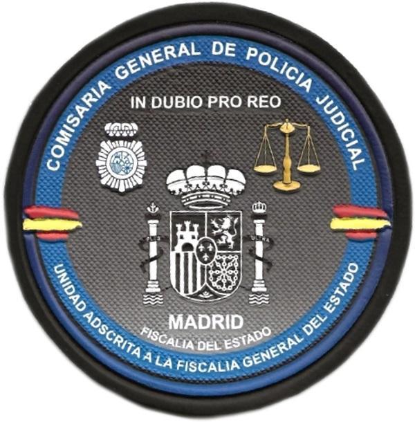 POLICÍA NACIONAL CNP CGPJ UNIDAD ADSCRITA A LA FISCALÍA GENERAL DEL ESTADO - PARCHE INSIGNIA EMBLEMA DISTINTIVO