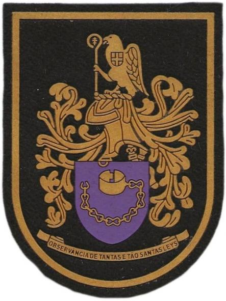 GUARDIA NACIONAL REPUBLICANA DE PORTUGAL COMANDO TERRITORIAL DE BRAGA PARCHE INSIGNIA EMBLEMA DISTINTIVO