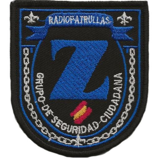 POLICÍA NACIONAL CNP RADIOPATRULLAS Z GRUPO DE SEGURIDAD CIUDADANA - PARCHE INSIGNIA EMBLEMA DISTINTIVO