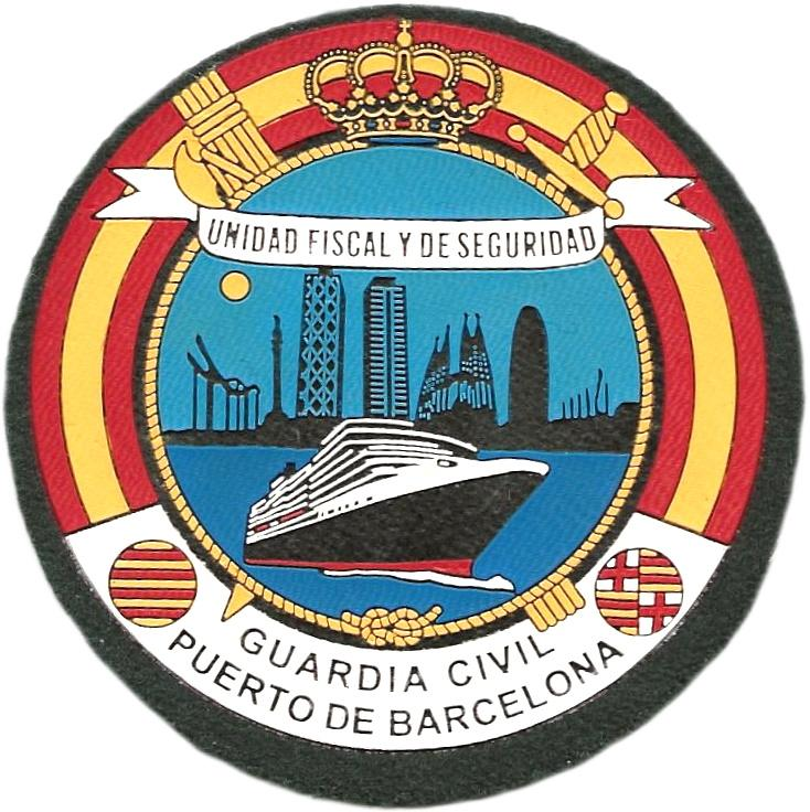PARCHE GUARDIA CIVIL UNIDAD FISCAL Y DE SEGURIDAD PUERTO DE BARCELONA - INSIGNIA EMBLEMA