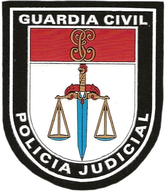 GUARDIA CIVIL POLICIA JUDICIAL - PARCHE INSIGNIA EMBLEMA DISTINTIVO