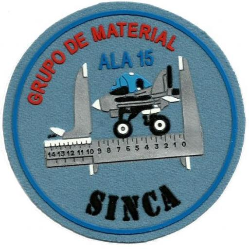 Ejército del aire ala 15 sinca parche insignia emblema distintivo
