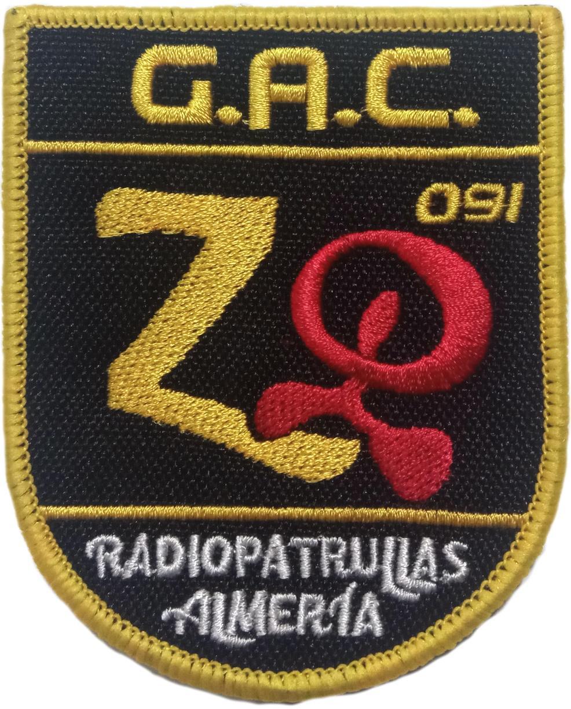 POLICÍA NACIONAL CNP RADIOPATRULLAS ALMERÍA 091 GAC PARCHE INSIGNIA EMBLEMA
