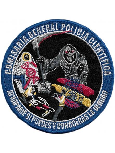 POLICÍA NACIONAL CNP COMISARÍA GENERAL DE POLICÍA CIENTÍFICA PARCHE INSIGNIA EMBLEMA DISTINTIVO