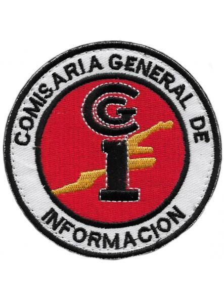 POLICÍA NACIONAL CNP COMISARÍA GENERAL DE INFORMACIÓN PARCHE INSIGNIA EMBLEMA DISTINTIVO