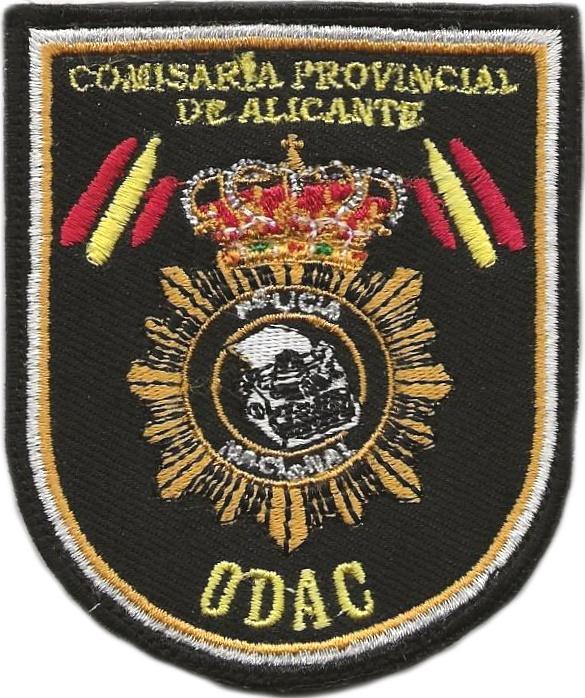POLICÍA NACIONAL CNP ODAC ALICANTE OFICINA DE ATENCIÓN AL CIUDADANO PARCHE INSIGNIA EMBLEMA DISTINTIVO