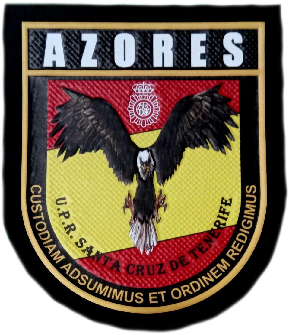POLICÍA NACIONAL CNP UPR AZORES SANTA CRUZ DE TENERIFE PARCHE INSIGNIA EMBLEMA DISTINTIVO