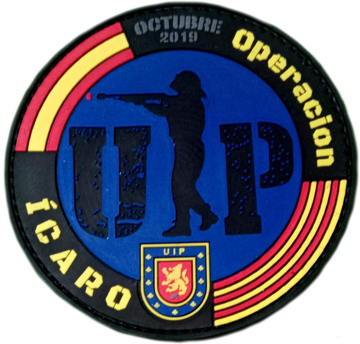 POLICÍA NACIONAL CNP UIP OPERACIÓN ÍCARO OCTUBRE 2019 PARCHE INSIGNIA EMBLEMA DISTINTIVO