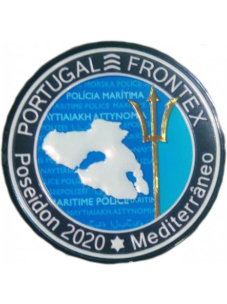POLICÍA DE EUROPA EUROPOL FRONTEX MISIÓN POSEIDÓN 2020 MEDITERRANEO PORTUGAL PARCHE INSIGNIA EMBLEMA DISTINTIVO [0]