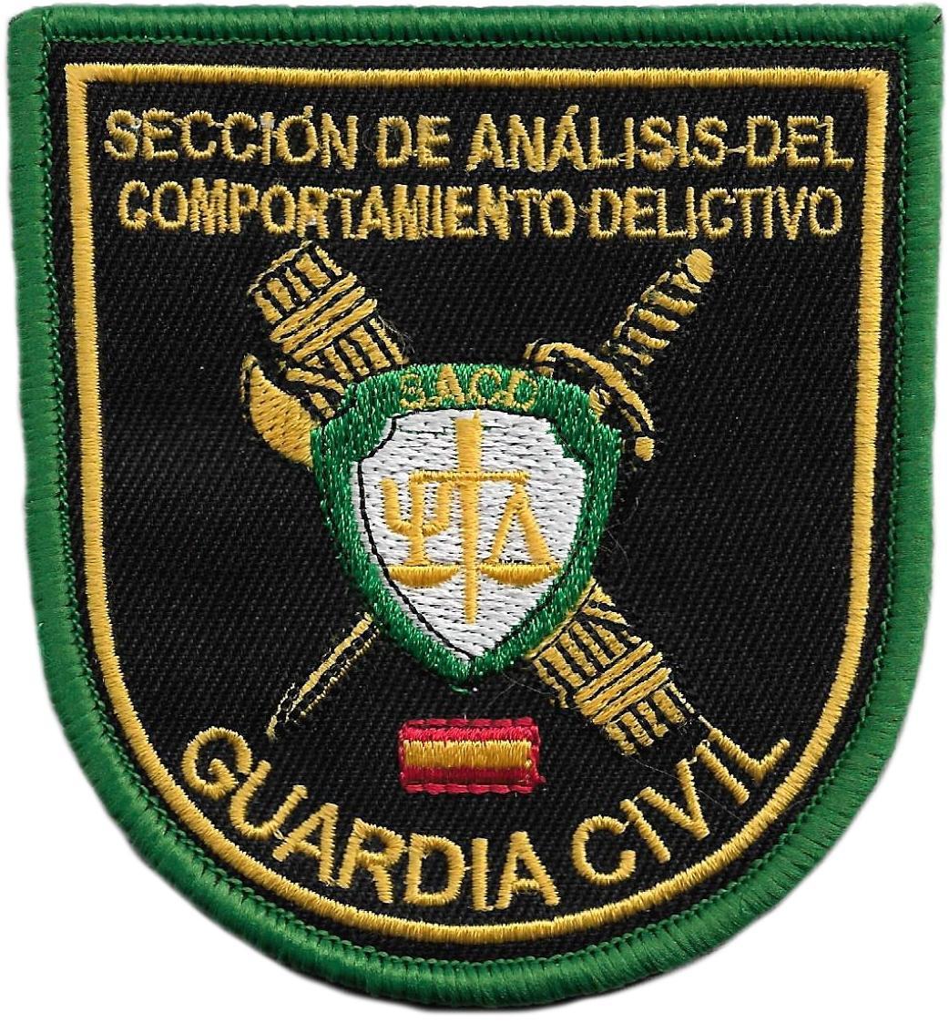 PARCHE GUARDIA CIVIL SACD SECCIÓN DE ANÁLISIS DEL COMPORTAMIENTO DELICTIVO - PARCHE INSIGNIA EMBLEMA
