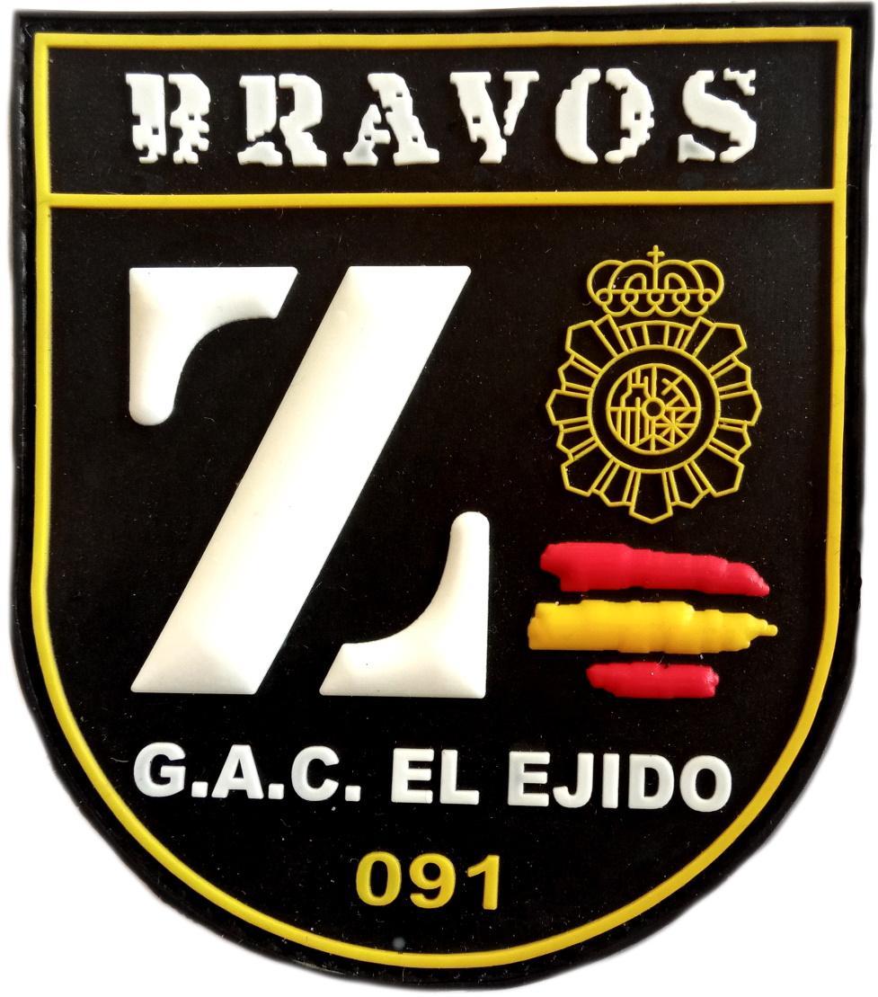 POLICÍA NACIONAL CNP RADIOPATRULLAS EL EJIDO BRAVOS GAC 091 PARCHE INSIGNIA EMBLEMA