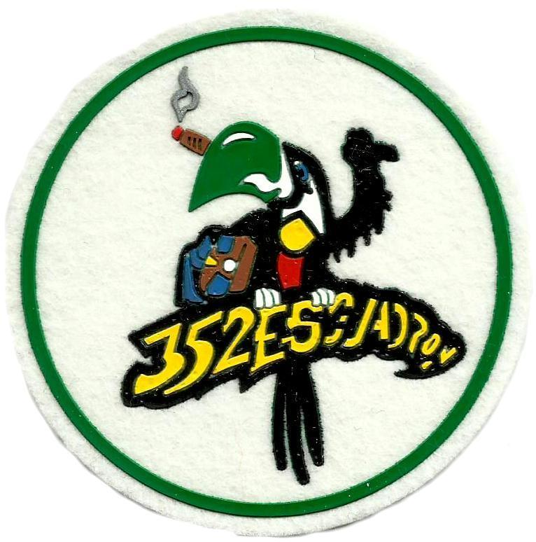 Ejército del aire escuadrón 352 parche insignia emblema distintivo