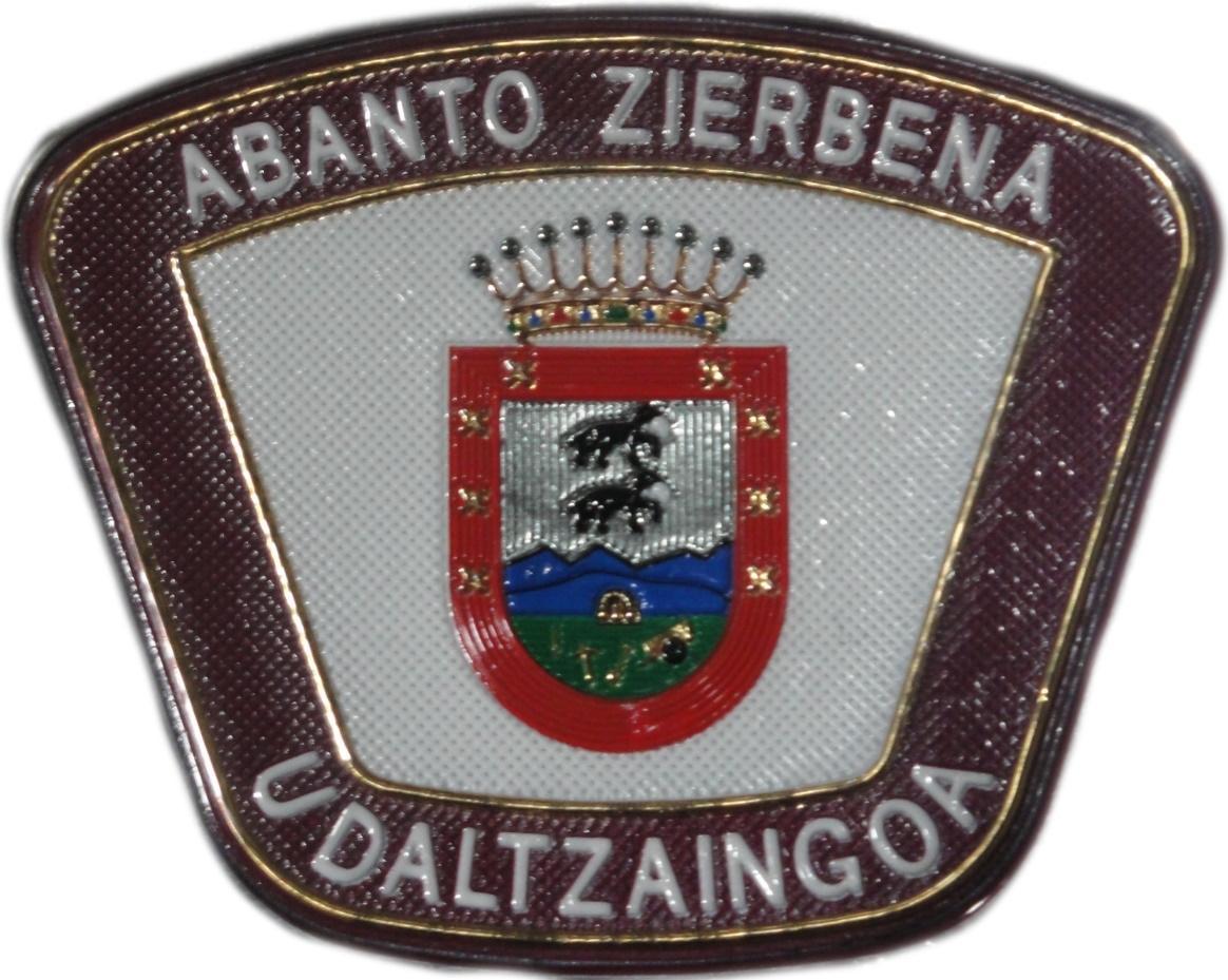 POLICÍA MUNICIPAL UDALTZAINGOA ABANTO ZIERBENA PARCHE INSIGNIA EMBLEMA