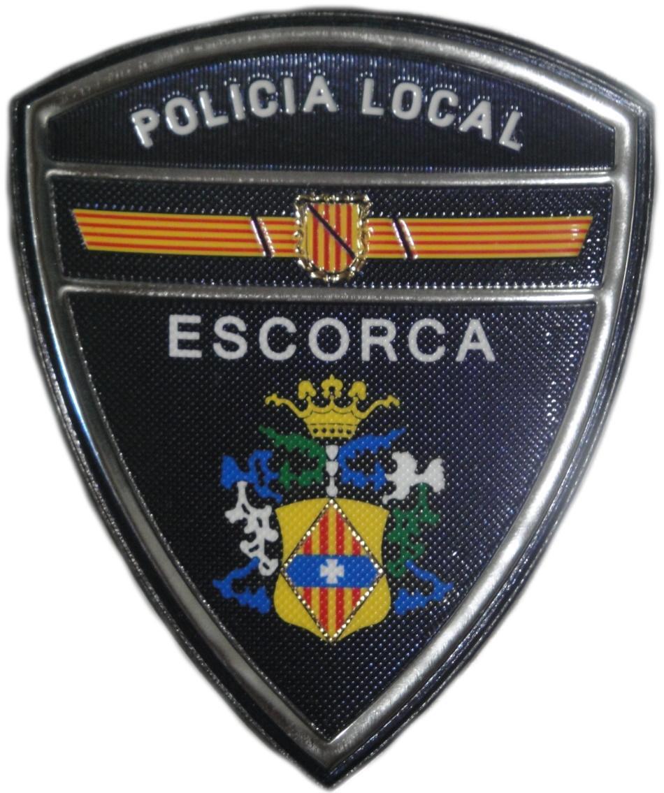 POLICÍA LOCAL ESCORCA PARCHE INSIGNIA EMBLEMA DISTINTIVO
