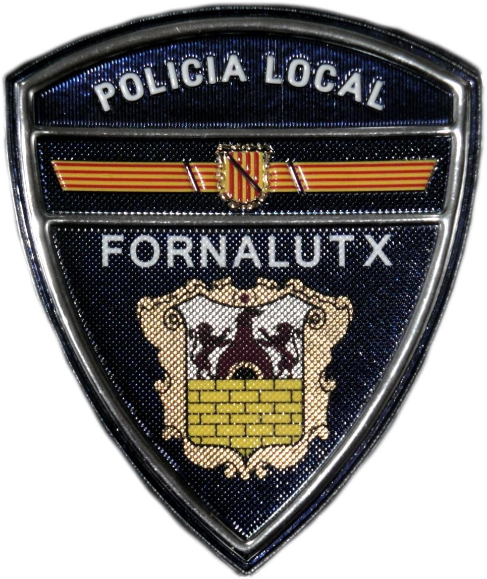 POLICÍA LOCAL FORNALUTX PARCHE INSIGNIA EMBLEMA DISTINTIVO