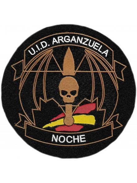 POLICÍA MUNICIPAL MADRID UID ARGANZUELA NOCHE PARCHE INSIGNIA EMBLEMA DISTINTIVO