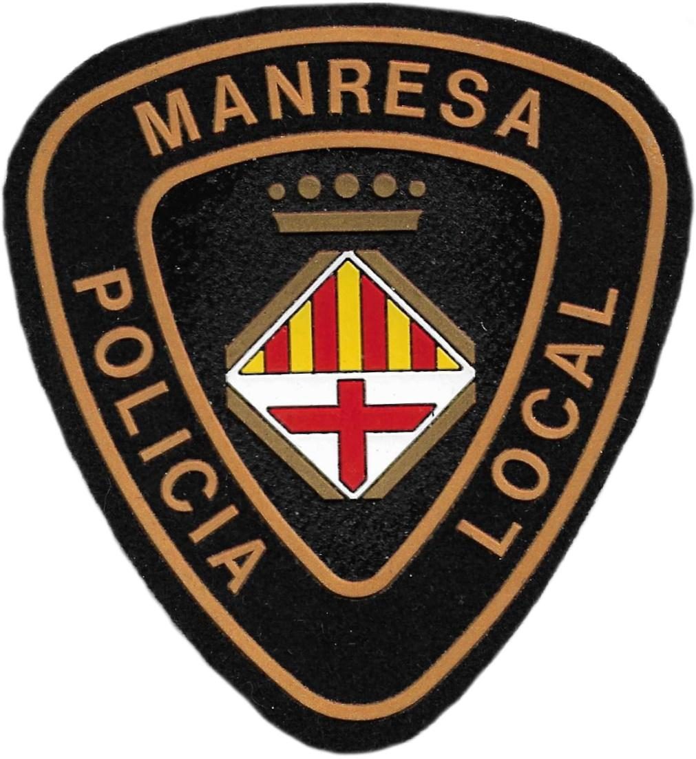 POLICÍA LOCAL MANRESA PARCHE INSIGNIA EMBLEMA DISTINTIVO