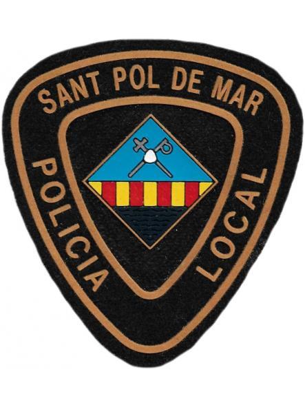 POLICÍA LOCAL SANT POL DE MAR PARCHE INSIGNIA EMBLEMA DISTINTIVO