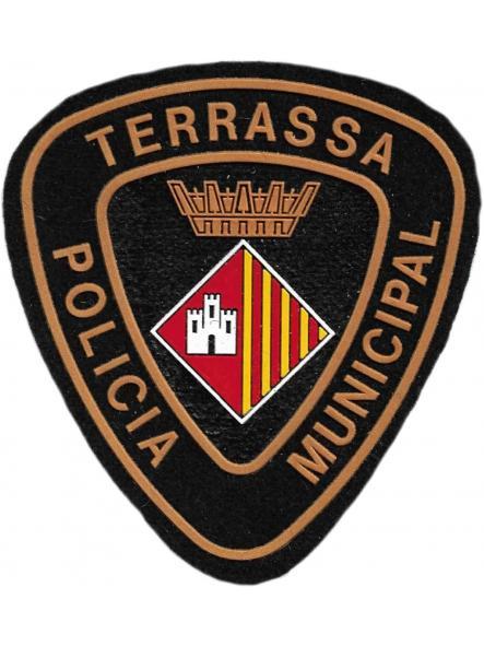 Policía municipal Terrassa parche insignia emblema distintivo