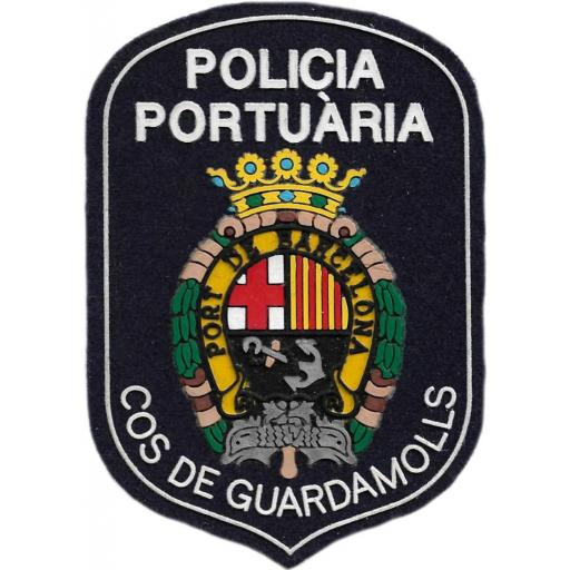 POLICÍA AUTORIDAD PORTUARIA COS DE GUARDAMOLLS DE BARCELONA PARCHE INSIGNIA EMBLEMA DISTINTIVO