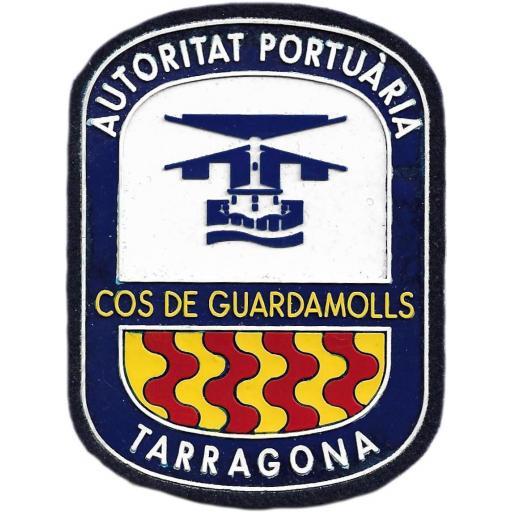 POLICÍA AUTORIDAD PORTUARIA COS DE GUARDAMOLLS DE TARRAGONA PARCHE INSIGNIA EMBLEMA DISTINTIVO