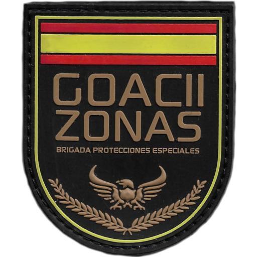POLICÍA NACIONAL CNP BRIGADA DE PROTECCIONES ESPECIALES GOACII ZONAS PARCHE INSIGNIA EMBLEMA DISTINTIVO