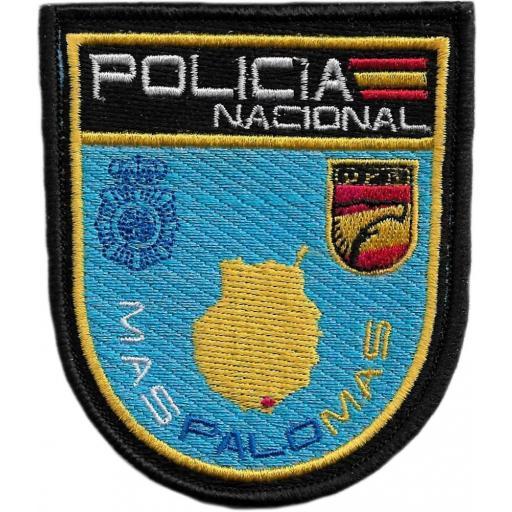 POLICÍA NACIONAL CNP UPR MASPALOMAS ISLAS CANARIAS PARCHE INSIGNIA EMBLEMA