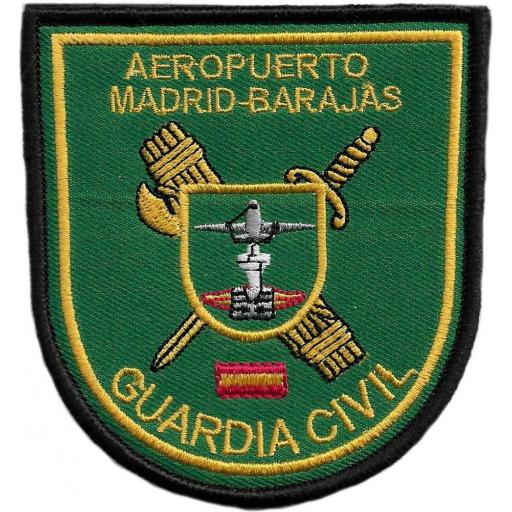 Guardia civil Aeropuerto Madrid Barajas  parche insignia emblema distintivo