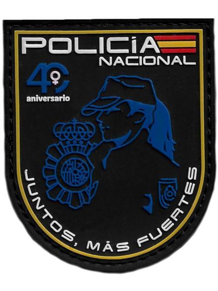 POLICÍA NACIONAL CNP 40 ANIVERSARIO MUJER POLICÍA JUNTOS MAS FUERTES PARCHE INSIGNIA EMBLEMA DISTINTIVO