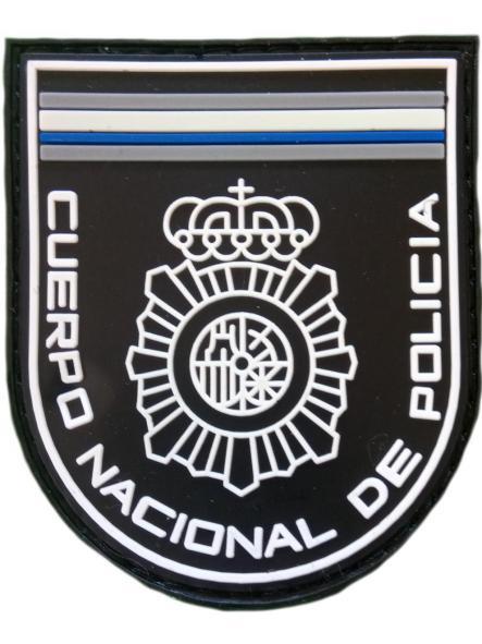 POLICÍA NACIONAL CNP BLANCO FLUORESCENTE Y AZUL PARCHE INSIGNIA EMBLEMA DISTINTIVO