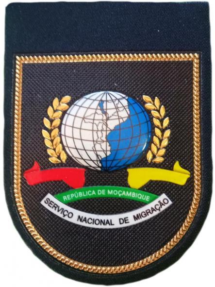 POLICÍA NACIONAL DE MOZAMBIQUE SERVICIO NACIONAL DE MIGRACIÓN EXTRANJEROS PARCHE INSIGNIA EMBLEMA  [0]