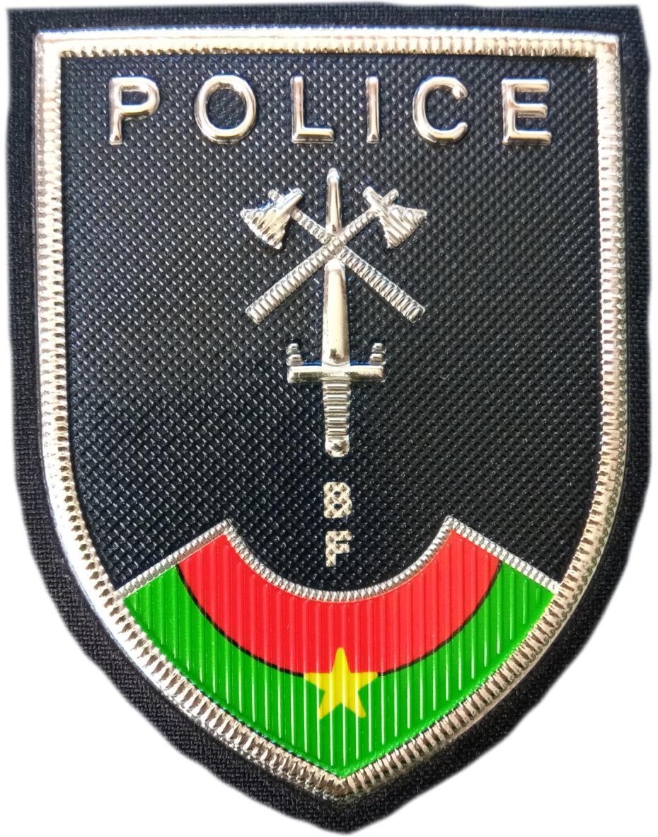 POLICÍA NACIONAL DE BURKINA FASO PARCHE INSIGNIA EMBLEMA UNIFORME DE GALA
