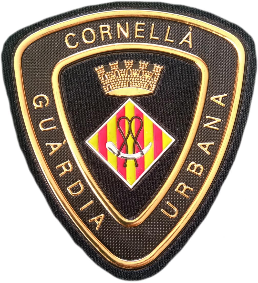 POLICÍA GUARDIA URBANA DE CORNELLÁ PARCHE INSIGNIA EMBLEMA DISTINTIVO