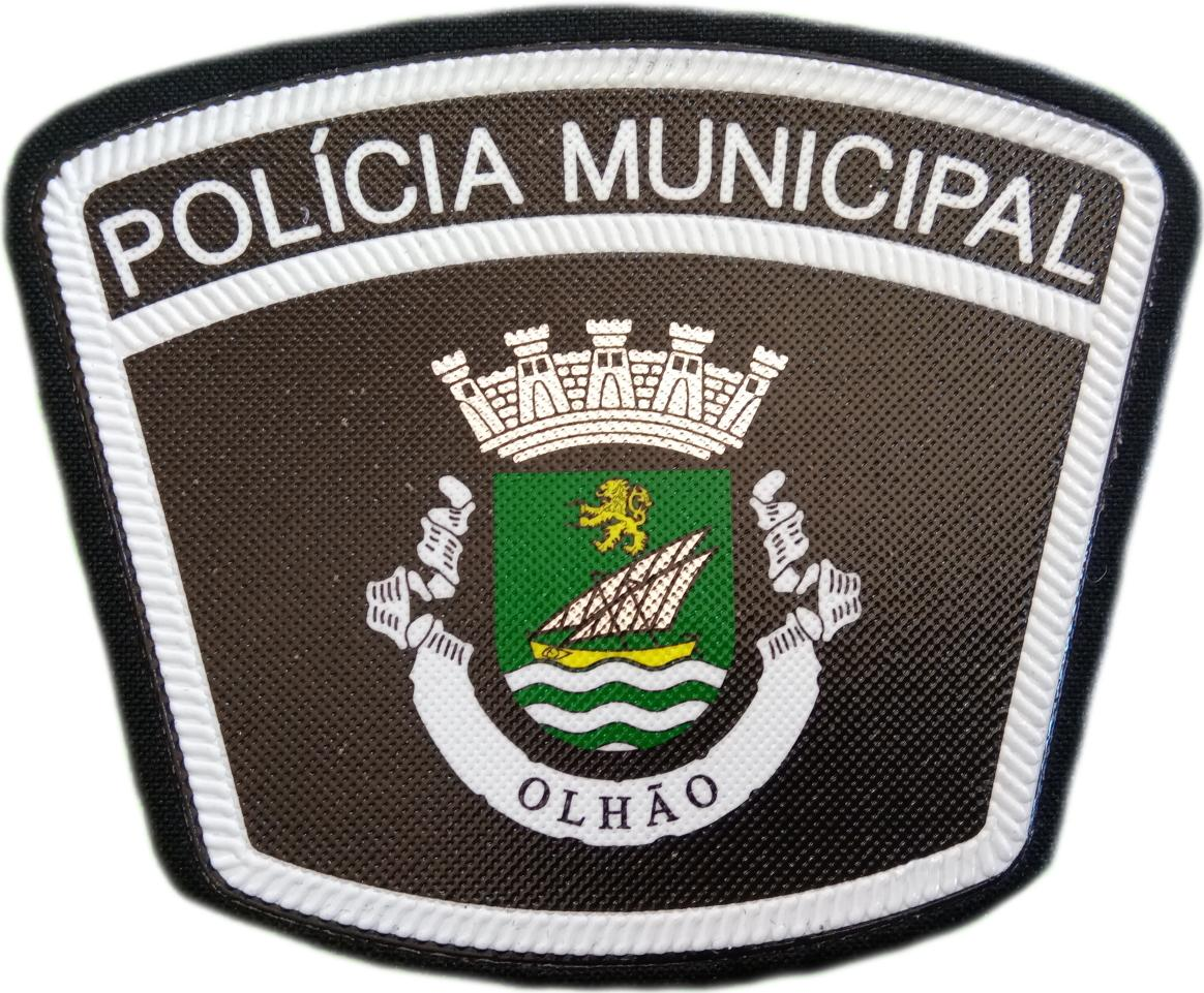 Policía Municipal de Olhao Portugal parche insignia emblema distintivo