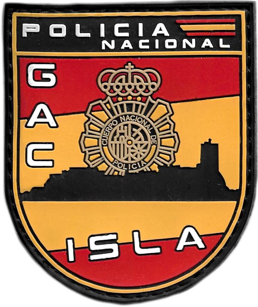 POLICÍA NACIONAL CNP GRUPO ATENCIÓN AL CIUDADANO GAC ISLA SAN FERNANDO PARCHE INSIGNIA EMBLEMA DISTINTIVO