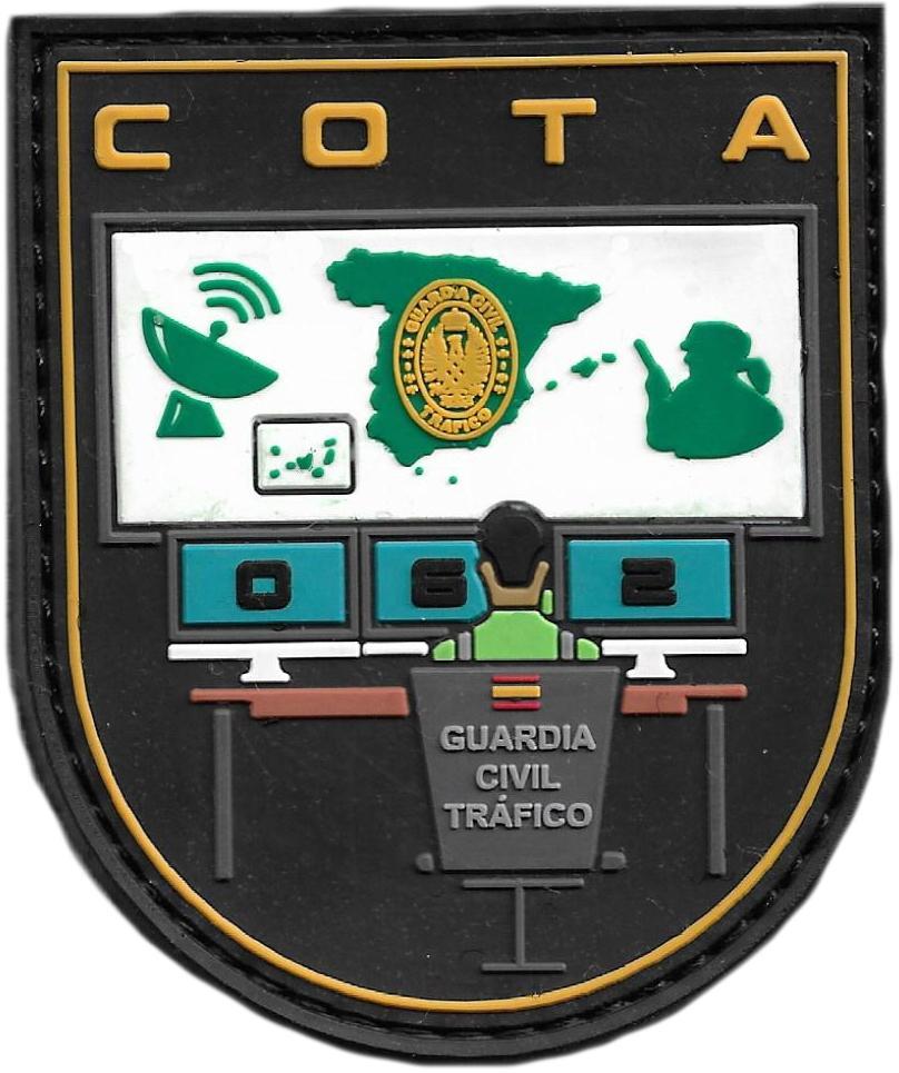 GUARDIA CIVIL COTA SALA 062 CENTRAL OPERATIVA DE TRÁFICO PARCHE INSIGNIA EMBLEMA DISTINTIVO