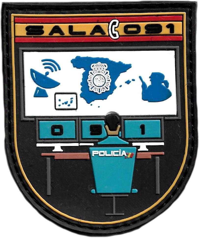 Policía Nacional CNP Sala 091 parche insignia emblema distintivo
