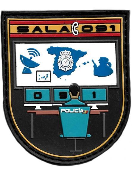 Policía Nacional CNP Sala 091 parche insignia emblema distintivo [0]