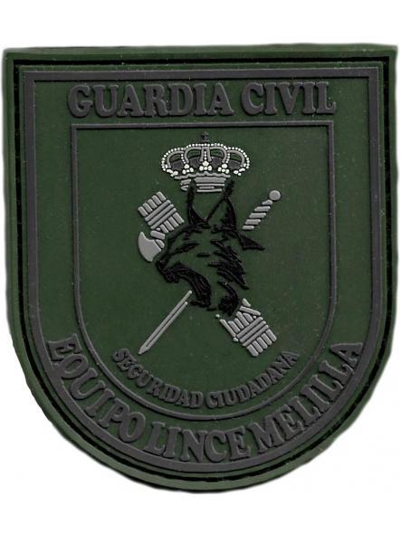 Guardia civil usecic Melilla equipo lince parche insignia emblema distintivo