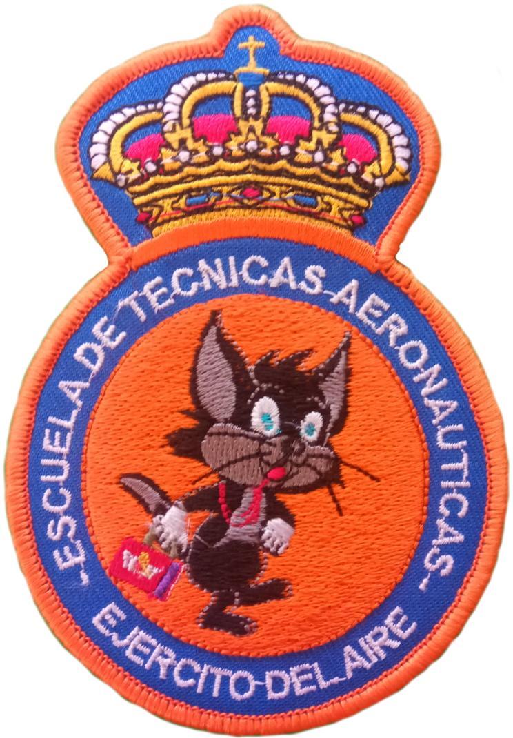 EJERCITO DEL AIRE ESCUELA DE TÉCNICAS AERONÁUTICAS PARCHE INSIGNIA EMBLEMA DISTINTIVO