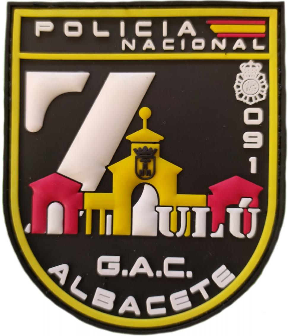 POLICÍA NACIONAL CNP GRUPO ATENCIÓN AL CIUDADANO GAC ALBACETE ZETA PARCHE INSIGNIA EMBLEMA DISTINTIVO