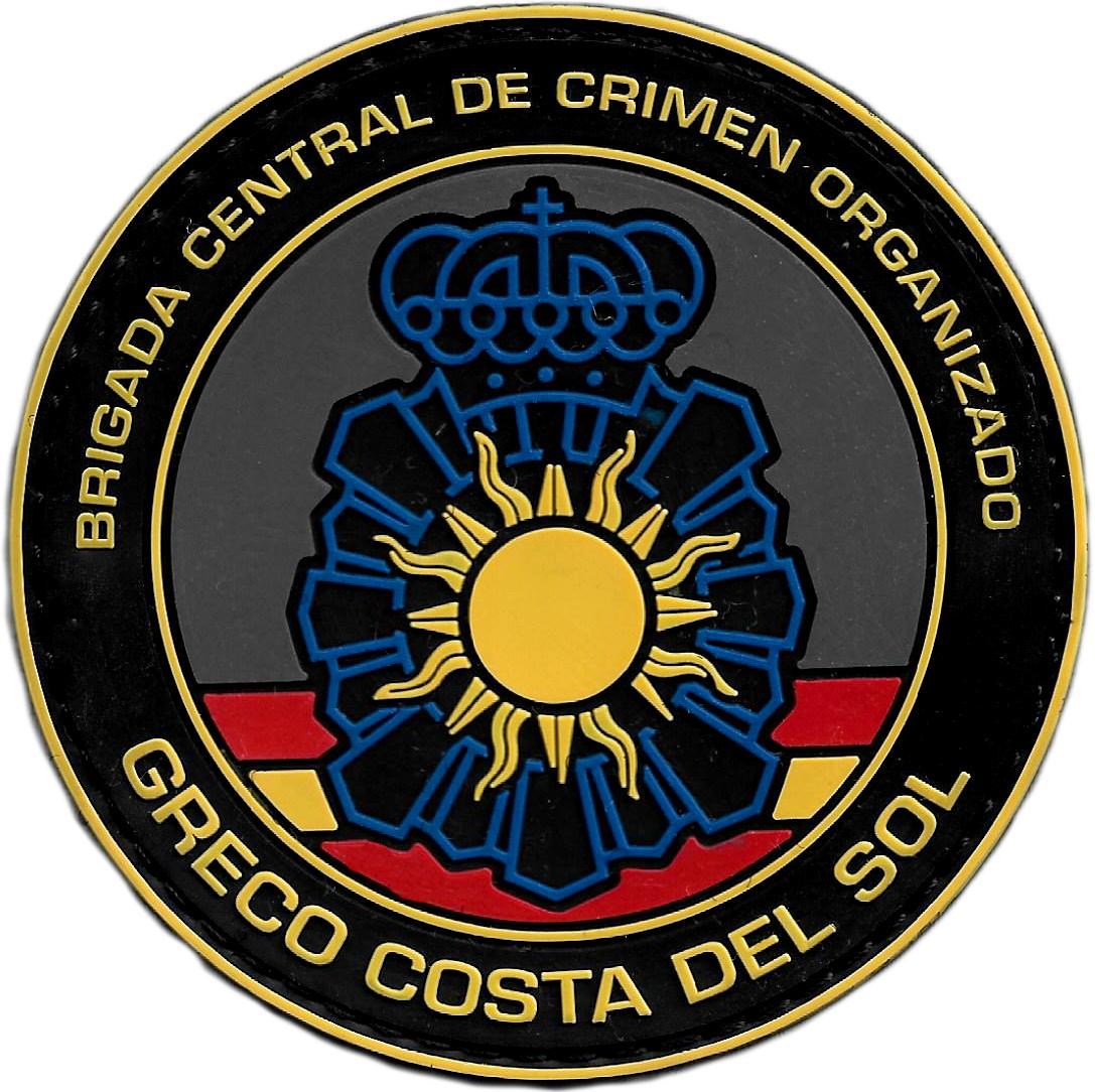 POLICÍA NACIONAL CNP GRECO COSTA DEL SOL BRIGADA CENTRAL CRIMEN ORGANIZADO PARCHE INSIGNIA EMBLEMA DISTINTIVO
