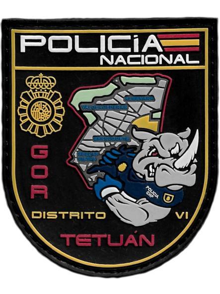 POLICÍA NACIONAL CNP GOR TETUÁN GRUPO OPERATIVO DE RESPUESTA DISTRITO VI MADRID PARCHE INSIGNIA EMBLEMA DISTINTIVO